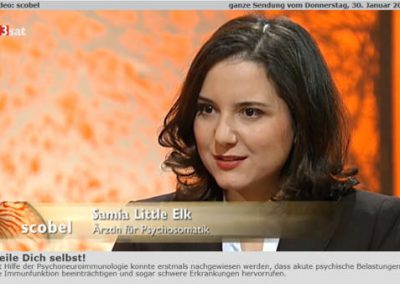 Samia Little Elk bei Scobel 3sat